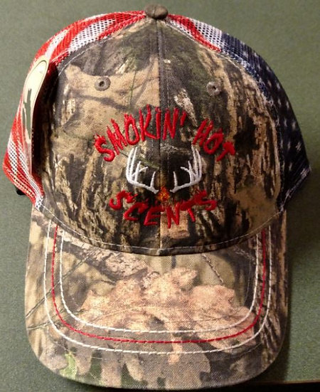 Smokin Hot Scents Camo American Flag Hat