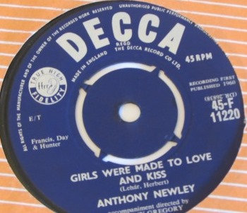 ANTHONY NEWLEY GIRLS WERE MADE TO LOVE AND KISS