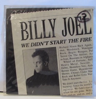 BILLY JOEL WE DIDNT START THE FIRE  IMPORT