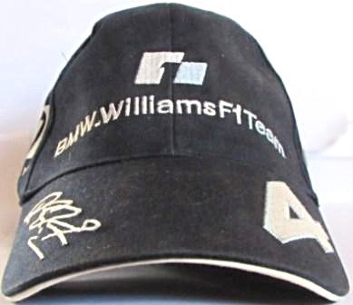 RALF SCHUMACHER BMW WILLIAMS  F1 CAP