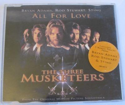 BRYAN ADAMS ALL FOR LOVE  CD SINGLE