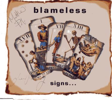 BLAMELESS SIGNS AUTOGRAPHED CD