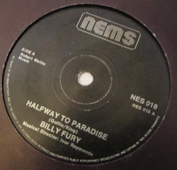 BILLY FURY HALFWAY TO PARADISE TURN MY BACK ON YOU