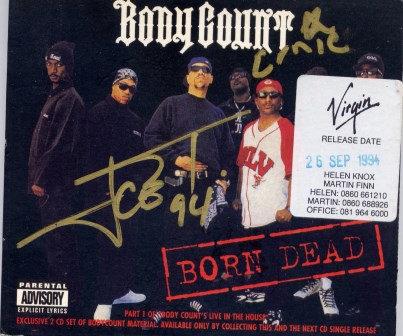 BODY COUNT BORN DEAD CDs