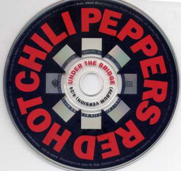 RED HOT CHILIPEPPERS UNDER THE BRIDGE PROMO CD