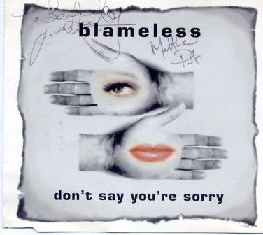 BLAMELESS DONT SAY YOUR SORRY AUTOGRAPHED CD