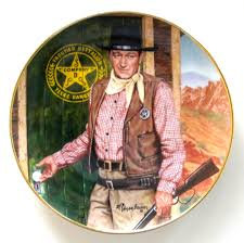 JOHN WAYNE PLATE LONG ARM OF THE LAW