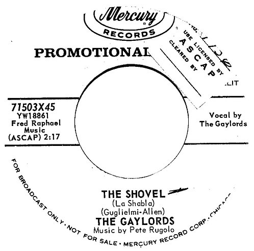 THE GAYLORDS THE SHOVEL USA PROMO