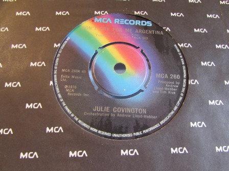 JULIE COVINGTON DONT CRY FOR ME ARGENTINA