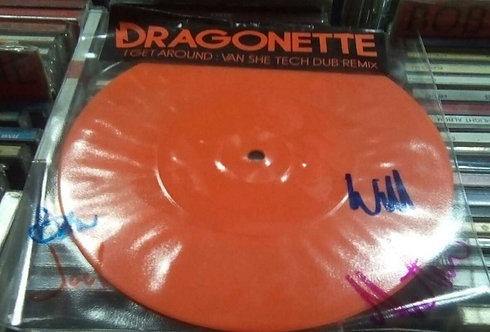 DRAGONETTE I GET AROUND AUTOGRAPHED 7""