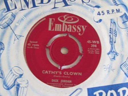 DICK JORDAN CATHY'S CLOWN  ON EMBASSY