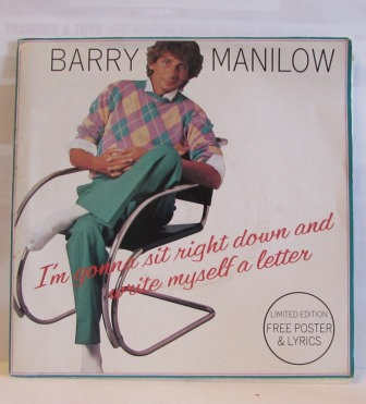 BARRY MANILOW IM GONNA SIT RIGHT DOWN POSTER PACK