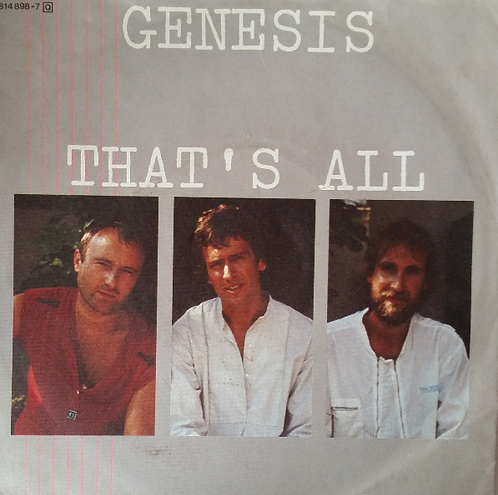GENESIS THAT'S ALL GERMAN IMPORT