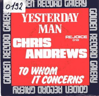 CHRIS ANDREWS YESTERDAY MAN  IMPORT