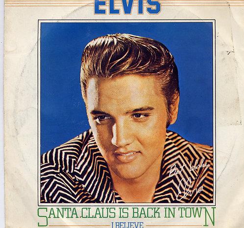 ELVIS PRESLEY SANTA CLAUS IS BACK IN TOWN