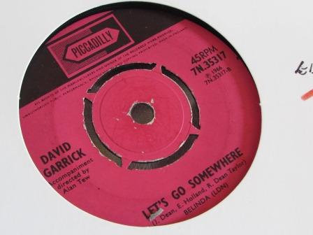 DAVID GARRICK LETS GO SOMEWHERE