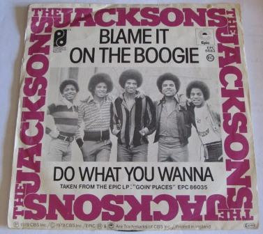 THE JACKSONS BLAME IT ON THE BOOGIE DUTCH ISSUE