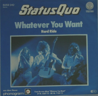 STATUS QUO WHATEVER YOU WANT GERMAN ISSUE