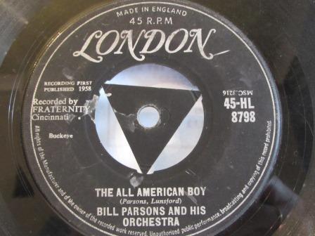 BILL PARSONS THE ALL AMERICAN BOY