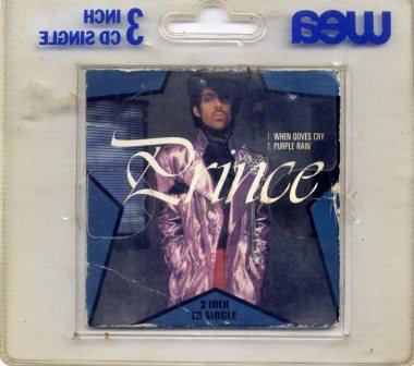 """PRINCE WHEN DOVES CRY RARE 3"""" CD"""