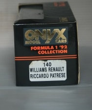 ONYX 140 WILLIAMS RENAULT RICCARDO PATRESE