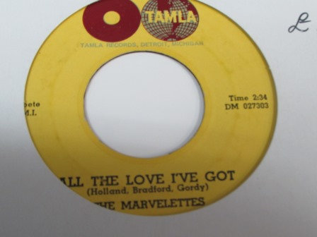 THE MARVELETTES ALL THE LOVE IVE GOT
