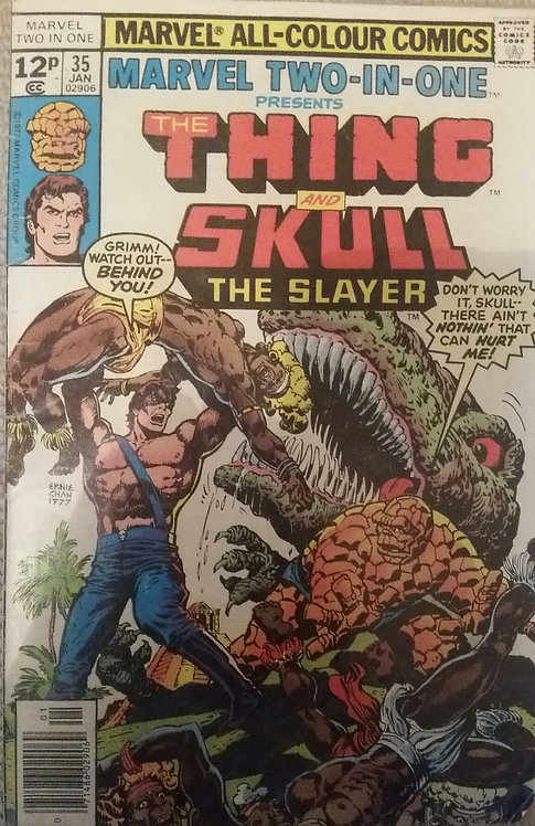 MARVEL THE THING AND SKUL