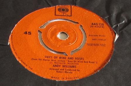 ANDY WILLIAMS DAYS OF WINE AND ROSES