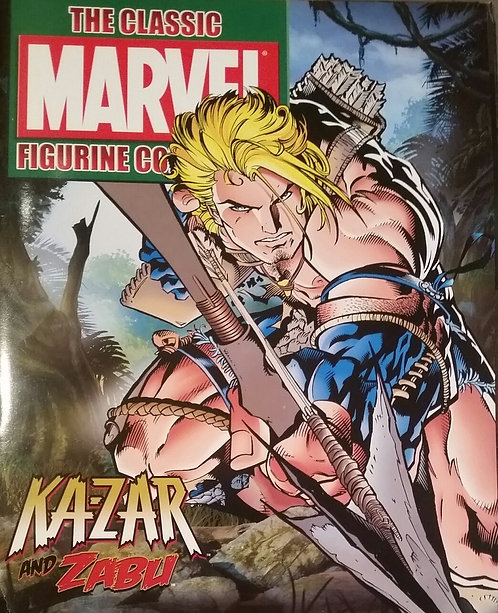 MARVEL FIGURINE COMIC KA-ZAR AND ZABU SPECIAL