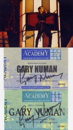GARY NEWMAN SIGNED MEMOBILLIA