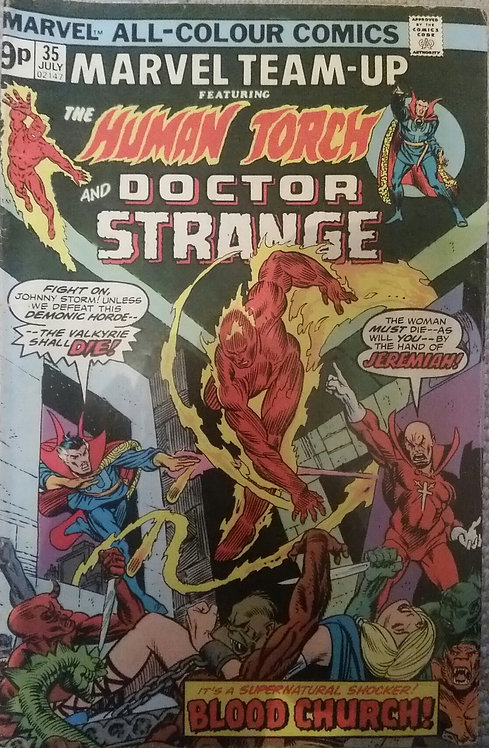 MARVEL THE HUMAN TORCH AND DOCTOR STRANGE
