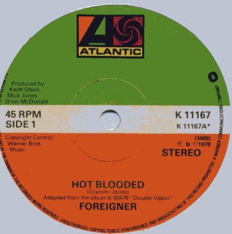 FOREIGNER HOT BLOODED