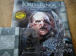 LORD OF THE RINGS CHESS PIECE ORC SWORDSMAN 12