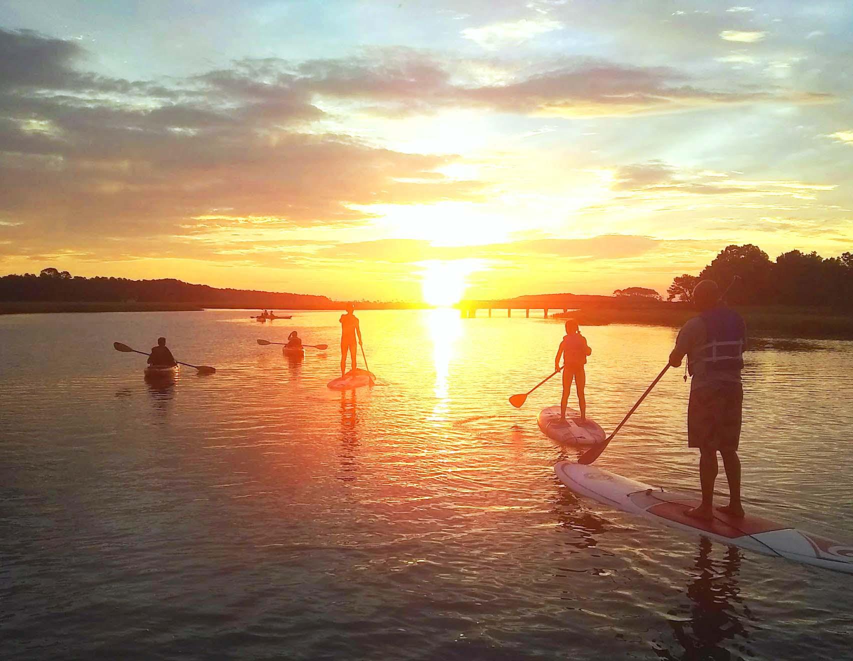 sunrise paddleboard in myrtle beach