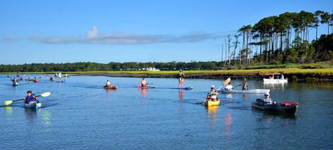 group kayak adventure myrtle beach