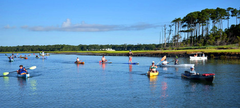 group kayak adventure myrtle beach