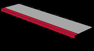 GFK Treppenstufenbelag mit abgesetzter Abkantung