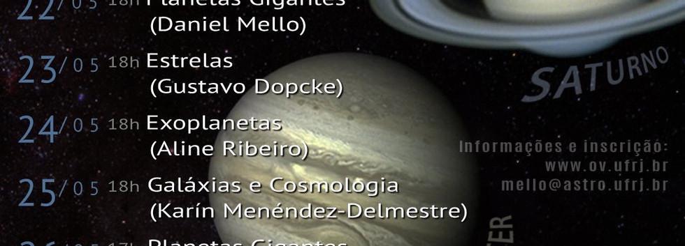 Semana dos Planetas Gigantes no Observatório do Valongo, 2018