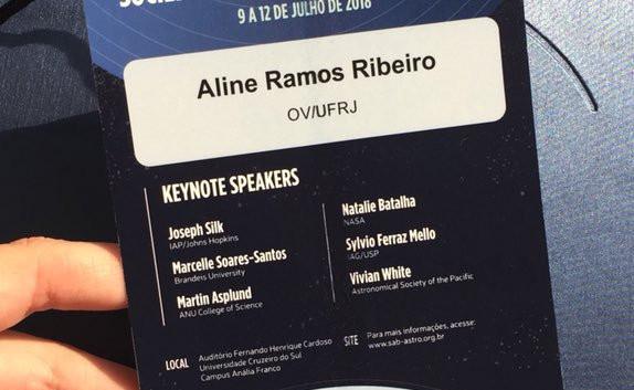 XLII Reunião Anual da Sociedade Astronômica Brasileira (SAB), 2018