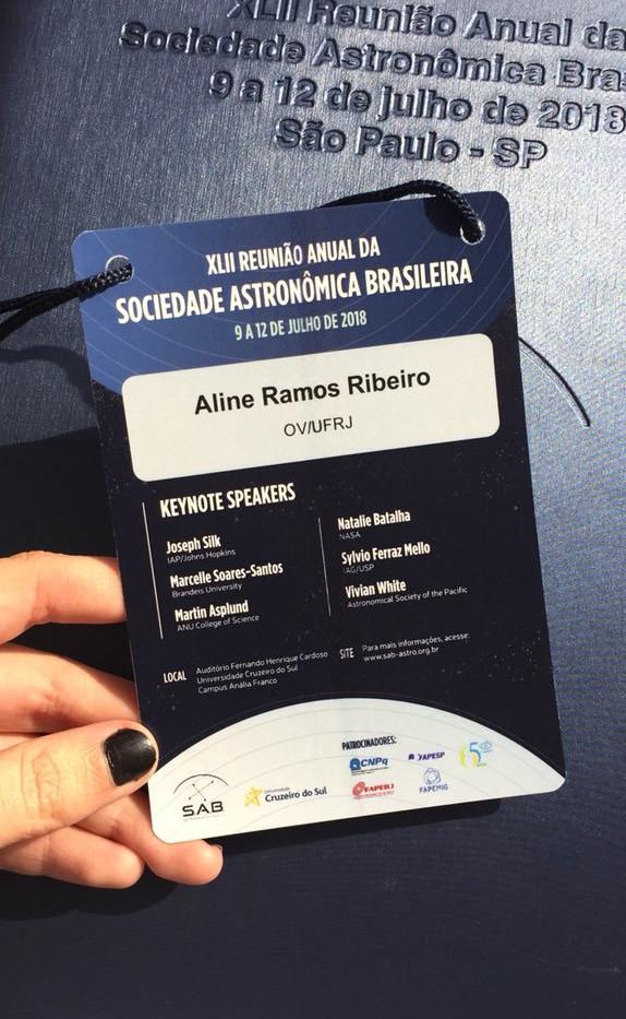 XLII Anual Reunion of the Brazilian Astronomical Society (SAB), 2018