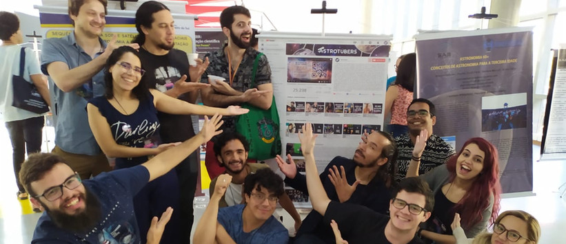 Astrotubers at XLIII Anual Meeting of the Brazilian Astronomical Society (SAB), 2019