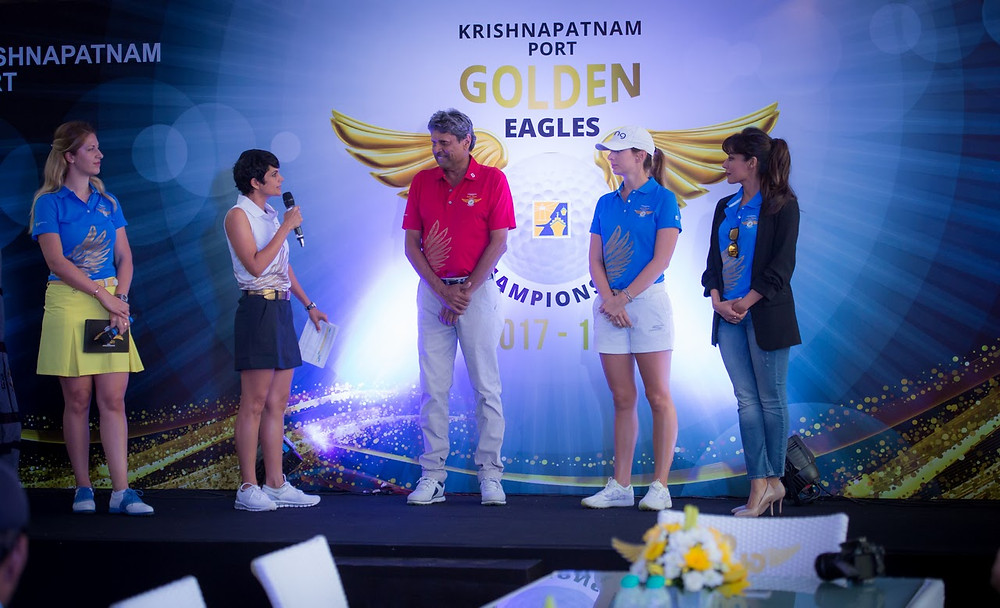 Pictured here is the opening ceremony. One of the celebrity guests was Kapil Dev who is a cricket legend in India.