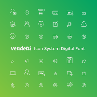 Vendetú Icon System Digital Font