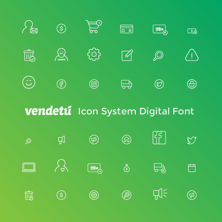 Vendetú Icon System Digital Font
