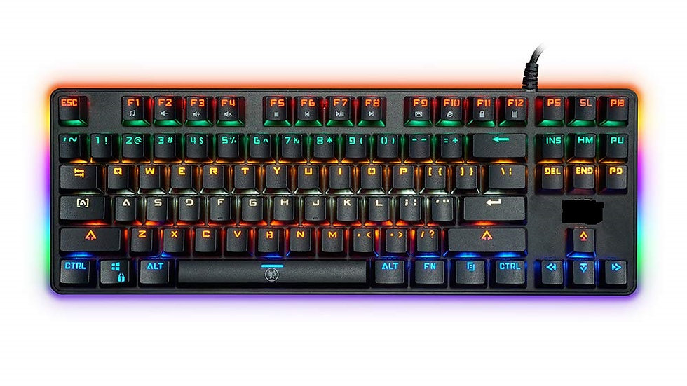 MK1200 Mini Wired Mechanical Gaming Keyboard with Multicolour LED