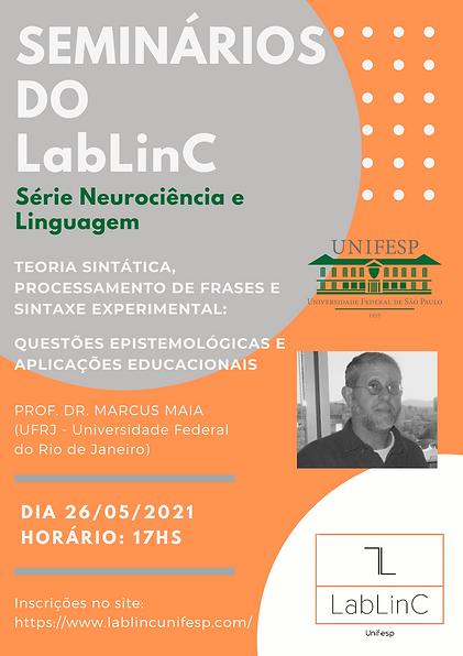 Cartaz seminários LabLinC prof.Marcus.p