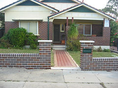 Croydon re-built new front brick fence