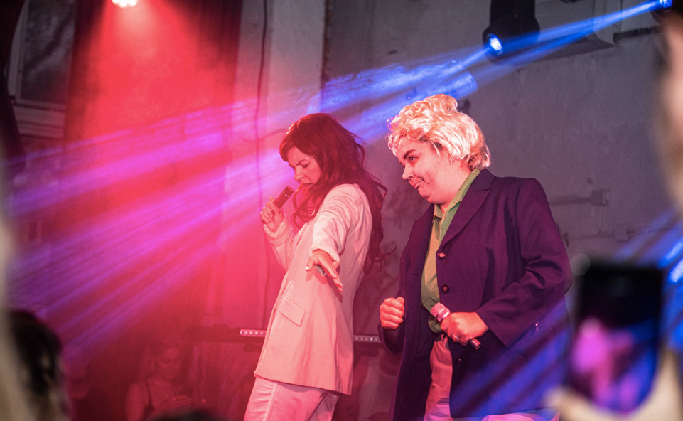 Maarja and Ivo Linna performing at Sveta baar at the Global Pride Bang 2020 party.