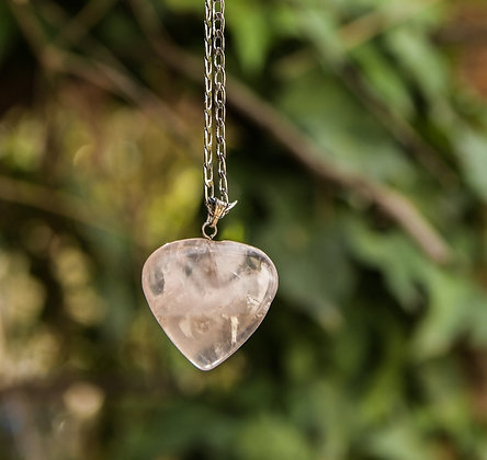 Heart shaped Rose Quartz