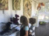 Children enjoying dragon exhibition